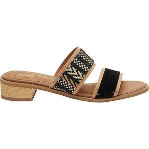 TOMS Mariposa Tan/Black Sandals